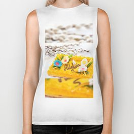 yellow decorative Easter cake Biker Tank