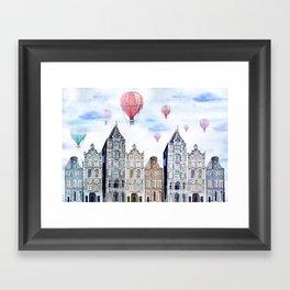 Amsterdam  watercolor Framed Art Print