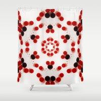 29 Red Kaleidoscope Shower Curtain