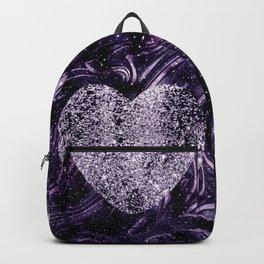 Cosmic Glitter Heart Dream #1 (Faux Glitter) #love #decor #art #society6 Backpack
