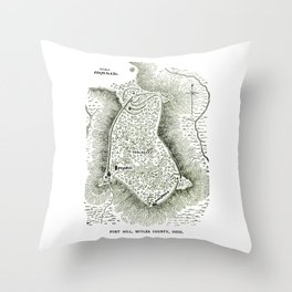 Earthworks at Fort Hill Throw Pillow