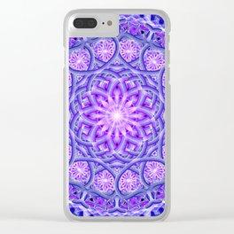 Light Lotus Mandala Clear iPhone Case