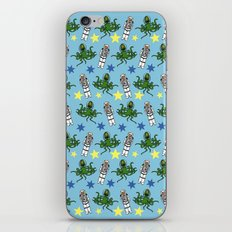 Aliens & Astronauts pattern iPhone & iPod Skin