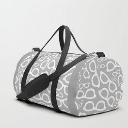Smart Glasses Pattern - Grey Duffle Bag