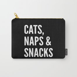 Cats, Naps & Snacks (Black) Carry-All Pouch