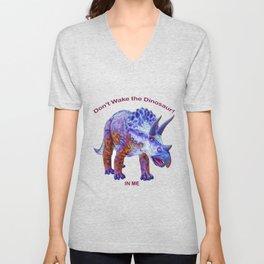 Don't Wake the Dinosaur! Unisex V-Neck