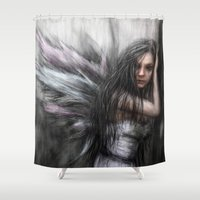 fairy Shower Curtains featuring Fairy by Justin Gedak