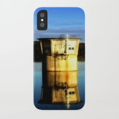 Reflections of a water Tower iPhone X Slim Case