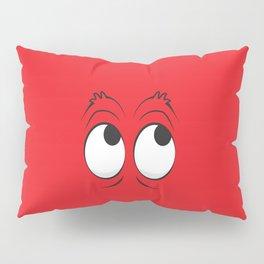 Monster Eyes Red Pillow Sham
