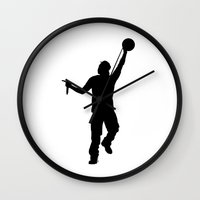 jay z Wall Clocks featuring #TheJumpmanSeries, Jay Z by @thepeteyrich
