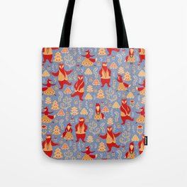 Dancing bears and foxes. Tote Bag
