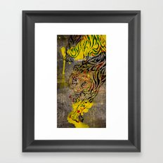 Chinese Lunar New Year and 12 animals ❤ The TIGER 虎 Framed Art Print