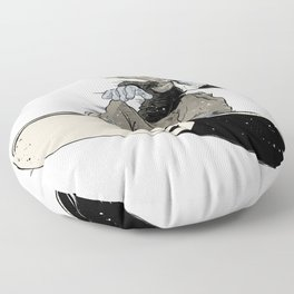 Snowboarder Floor Pillow