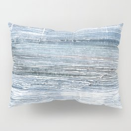 Pewter Blue abstract watercolor Pillow Sham