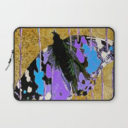 Butterfly Vison in Blue and Purple Laptop Sleeve