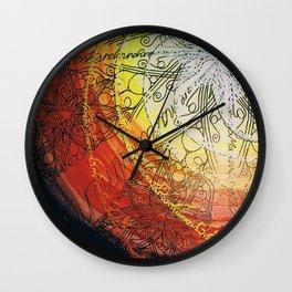 fire wheel Wall Clock