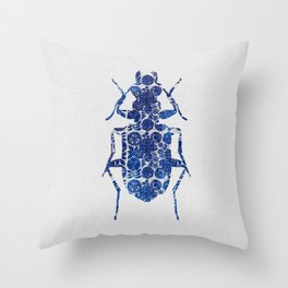 Blue Beetle II Throw Pillow