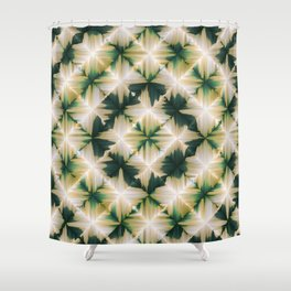 Feather painted tile 2 Shower Curtain