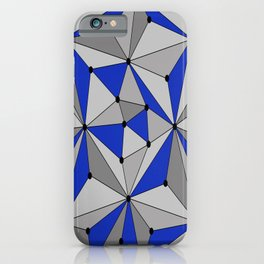 Abstract geometric pattern - blue and gray. iPhone Case