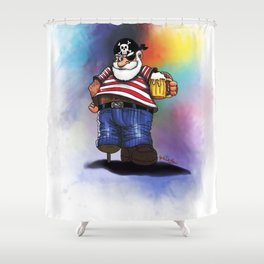 Beer Pirate Shower Curtain