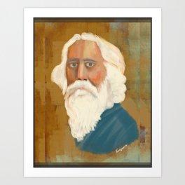 Portrait of Rabindranath Tagore Art Print