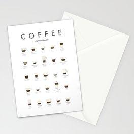 Coffee Chart - Espresso Classics Stationery Cards