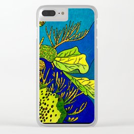 Sea Salad Clear iPhone Case