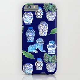 Maximalist Décor, vintage vase ,Chinese Ginger Jars and Foo Dogs, Chinoiserie, Hampton's Style iPhone Case