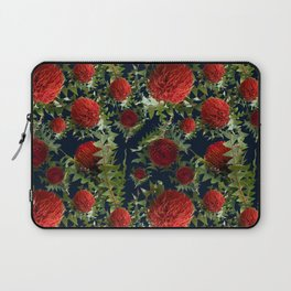 Australian Native Floral Pattern - Red Banksia Flowers Laptop Sleeve