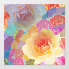 Artistic roses, patterns and textures Canvas Print