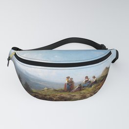 Carl Spitzweg Girls on a Pasture Fanny Pack