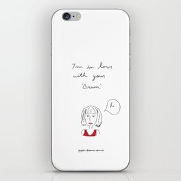 I´m in love with your brain iPhone Skin