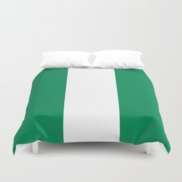 Nigerian Flag - Authentic High Quality HD Image Duvet Cover