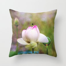 Lotus Life Throw Pillow