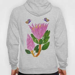 Protea bloom and bud Hoody