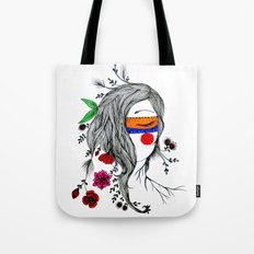 Xochi, goddess of flowers Tote Bag
