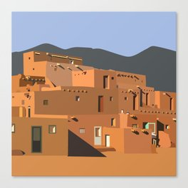Mexico Taos Pueblo Canvas Print