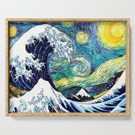 Starry Wave Night Serving Tray