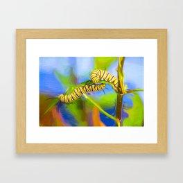 Caterpillar Duo Framed Art Print