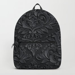 Black Damask Backpack