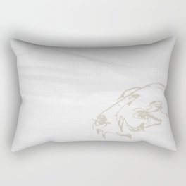 Pale Skull Rectangular Pillow