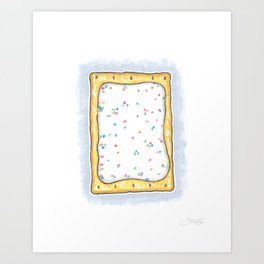 Pop Tart Watercolor Print Art Print