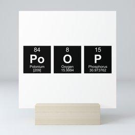 Poop Periodic Table Dark Mini Art Print