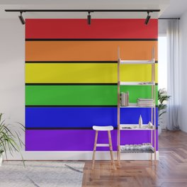 RAINBOW stripes Wall Mural