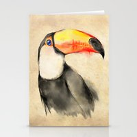 toucan Stationery Cards featuring Toucan by akaori_art