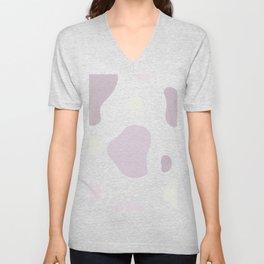 Moo patches - Purple mint colour series   Unisex V-Neck