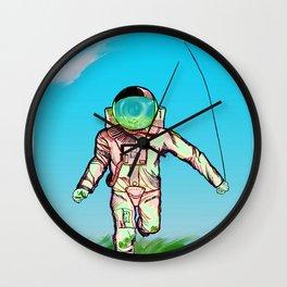 The Astro Runner  Wall Clock