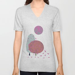 Trees in wind Unisex V-Neck