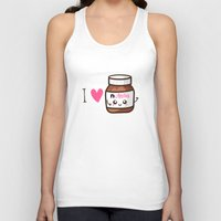 nutella Tank Tops featuring Love Nutella by Kleviee