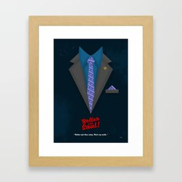 "Better Call Saul - Suit No. #4 - James Morgan ""Jimmy"" McGill's Style. Framed Art Print"